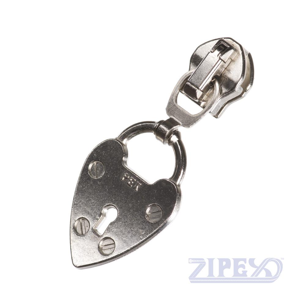 No18 Padlock zip slider puller